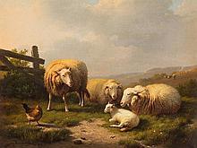 Eugène Verboeckhoven (1798/99-1881), Resting Sheep, 1873