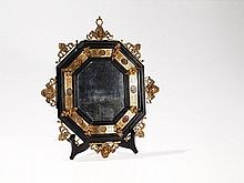 Italian Gilt Bronze Mirror with Pietra Dura Inlays, 19th C