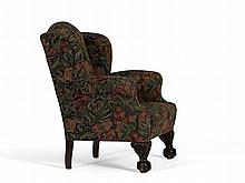 Armchair with Claw and Ball Feet, Baroque Style, 19th C