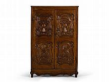Wardrobe with Ornate Carving Work, Russia, late 18th C