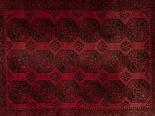 Mauri carpet with guls from Afghanistan, 90.000 knots/m2