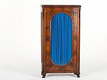 Elegant Mahogany Vitrine in the Style of Louis-Philippe, 1850
