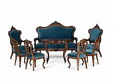 Salon Furniture Suite, Louis-Philippe, France, around 1850/60