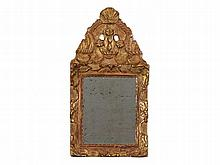 Wall Mirror with Gilt Ornamentation, 18th/19th C