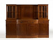 Mahogany Sideboard with Display Cases, 1920s