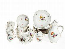 KPM Coffee & Mocha Service Neuosier Flower Decor, 1957-93