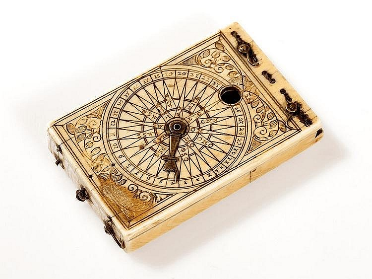 Signed Ivory Sundial by Conrad Karner, early 17th Century
