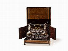 Tantalus, Liqueur Cabinet with 16 Glasses & 4 Bottles, c. 1900