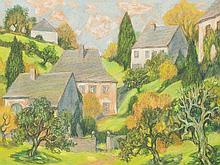 Edmund A. Kohlschein (1900-1996), Pastel, Landscape, c. 1950's