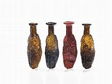 Four Sidonian Date Flacons, Roman, 1st/2nd Century AD