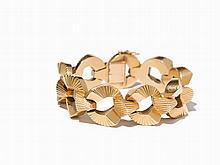 Cartier, Ribbed Gold Bracelet, 18K, Paris, c.1950