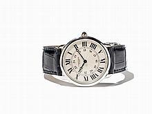 Cartier Ronde Platinum Wristwatch, Switzerland, c. 1995
