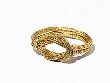 Ilias Lalaounis, Herakles Knot Bracelet, Woven Gold, 1960