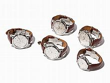 Set 5 Nautical Instrument Men's Watches, Germany, Around 2005