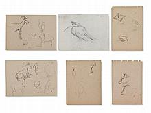 Ludwig H. Jungnickel, Six Animal Sketches, c. 1945