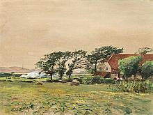 Eugen G. Dücker (1841-1916), Watercolor, Behind the Dunes, 1910