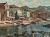 Friedrich Klaiberg, Painting 'Mediterranean Village', c. 1980