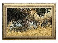 Willem Sternberg de Beer, Oil Painting, Leopard, around 2000