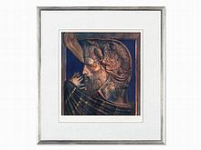 Ernst Fuchs, Serigraph in Colors, David, Austria, about 1980
