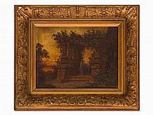 Ferdinand Knab (1834-1902), Temple Ruin at Sunset, 1904