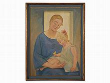 Ernst Odefrey (1882-1964), Gemälde, 'Mutter und Kind', 1926
