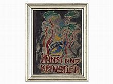 Friedrich Ahlers-Hestermann, Gouache, 'Kunst & Künstler', 1923