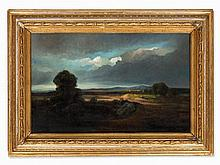 Georges Michel, Circle of, Fields in Stormy Atmosphere, 19th C.