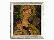 Willy Semm, Painting, Madonna with Christ and St. John, 1943