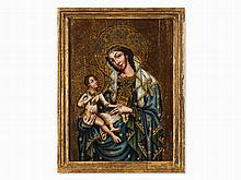 Panel Painting, Madonna With Child, Europe, Early 20th Century
