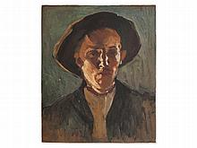 Hermann Groeber (1865-1935), Oil Painting Portrait of a Peasant