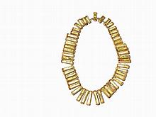 Line Vautrin, Talosel Necklace in Green, France, c. 1950