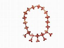Line Vautrin, Talosel Necklace in Red, France, c. 1950