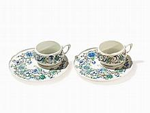 Theo Schmuz-Baudiss, KPM Pair of Cups with Saucers, 1919