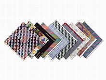 Verner Panton, 10 Sample Fabrics, Mira-X, Switzerland, 1980s