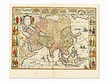 Willem Blaeu, Asia Noviter Delineata, Colored Map, 1650