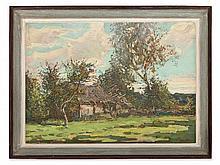 Alexej Maratschkin, Landscape with Farm, Belarus, 1993