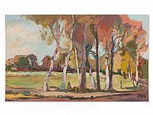 Arthur Meyer zu Küingdorf, Painting 'Remote Country Way', 1982