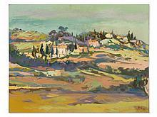 Arthur Meyer zu Küingdorf, Painting 'Mediterranean View', 1983