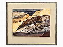 Siegfried Rischar, Watercolor, Landscape, Germany, 1976