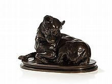 Life-Size Bronze 'Lying Chihuahua', France, around 1860