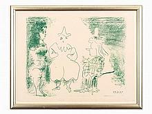 Pablo Picasso, Lithograph, 'L'Ecuyère et les Clowns', 1957