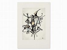 Rolf Cavael (1898-1979), Drawing, Abstract Composition, 1965