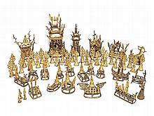 Bronze Shrine, 21 Stations from the Life of Buddha, 18/19th C.