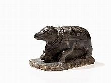 Stone Figure of Nandi in Style of the Pala Period