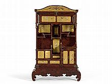 Japanese Cabinet with Shibayama Lacquer Inlays, 19th C.