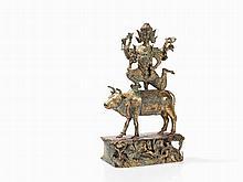 Ratanakosin Style Bronze Buddha on an Ox Back, Thailand, 19thC