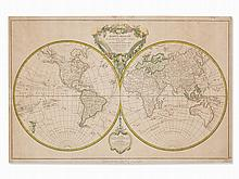 Robert de Vaugondy, World Map 'Mappe Monde', Paris, 1786