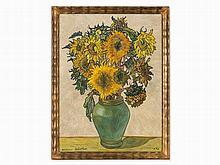 Julius Hüther (1881-1954), Still life with sunflowers, 1942