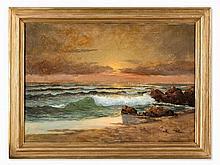 Pavel Svedomsky (1849-1904), Ocean View at Sunset, around 1880