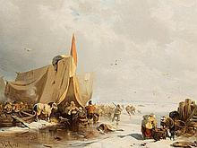 Carl Hilgers (1818-1890), Winter's Day on the Ice, c. 1870